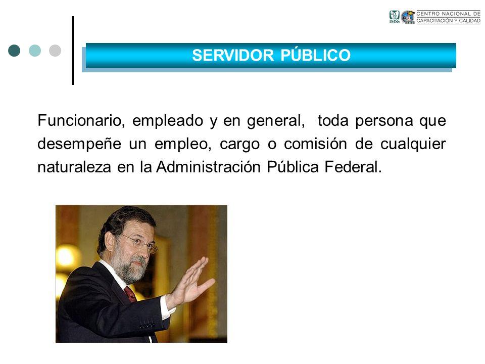 Funcionario, empleado y en general, toda persona que desempeñe un empleo, cargo o comisión de cualquier naturaleza en la Administración Pública Federa