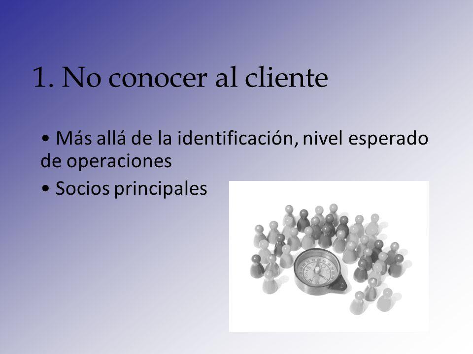 2. Inconsistencia de la base de datos Análisis No conducir la evaluación anual