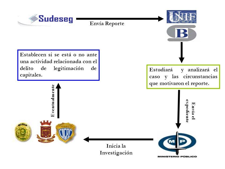 Envía Reporte Estudiará y analizará el caso y las circunstancias que motivaron el reporte. Envía el expediente Inicia la Investigación Establecen si s