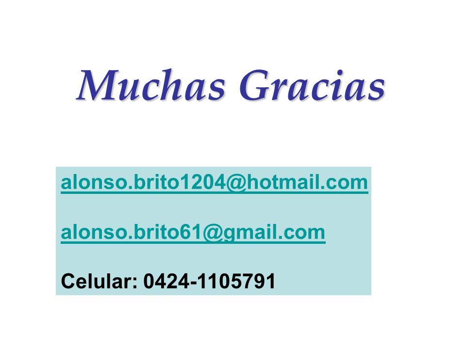 Muchas Gracias alonso.brito1204@hotmail.com alonso.brito61@gmail.comonso.brito61@gmail.com Celular: 0424-1105791