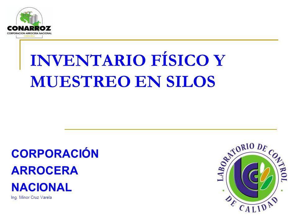 INVENTARIO FÍSICO Y MUESTREO EN SILOS CORPORACIÓN ARROCERA NACIONAL Ing. Minor Cruz Varela