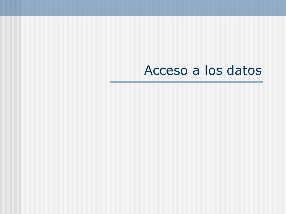 Acceso a los datos