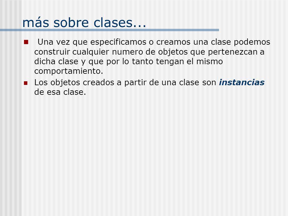 Variables de Instancia y Variables de Clase: Variables de Instancia.- Cada objeto que pertenece a la clase tiene una copia personal de la variable.