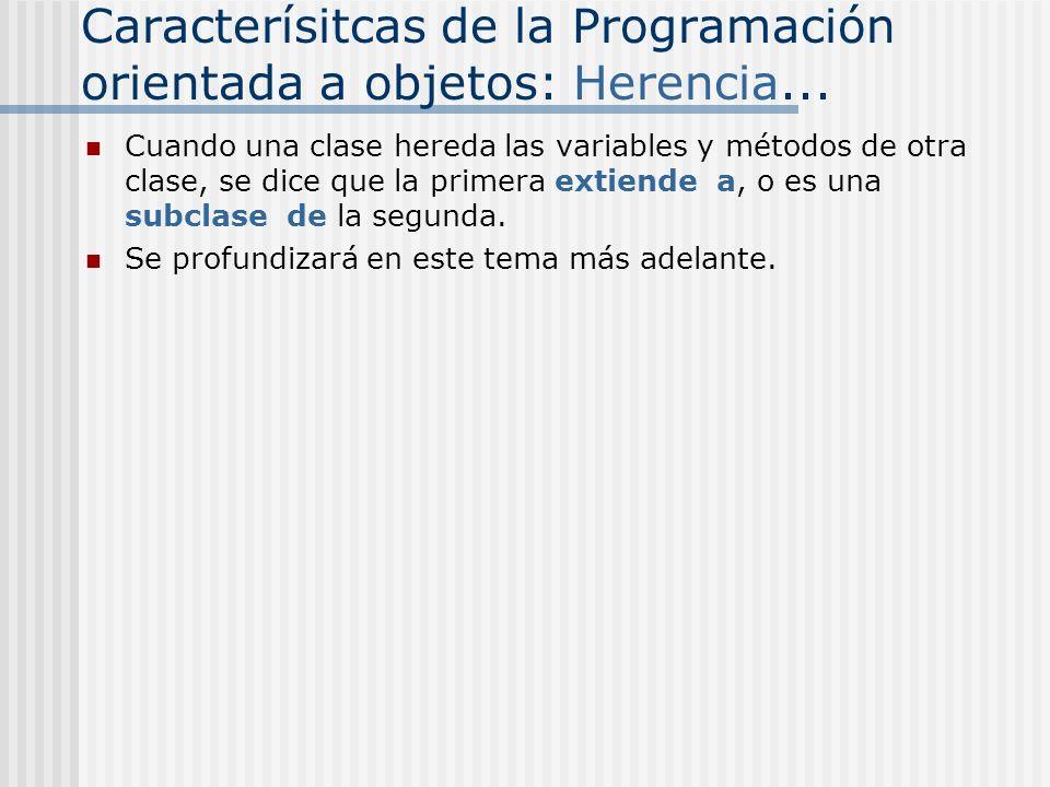 Clase Point: private static int numCreated=0 private int x=0 private int y=0 public class Point { Métodos } x,y punto1punto2punto3 x = 5 Y = 7 x = 8 Y = 3 x = 4 Y = 9 numCreated = 1= 2= 3 Estos campos no pueden ser accesados desde afuera de la clase Variable de clase (estática)