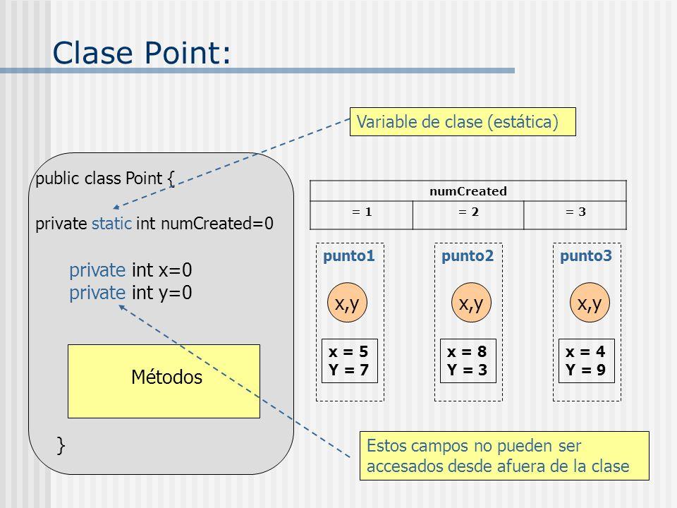 Métodos: El paso de parámetros por valor protege la integridad de los argumentos actuales: Si el método modifica sus parámetros formales, los argumentos actuales permanecen sin cambio.