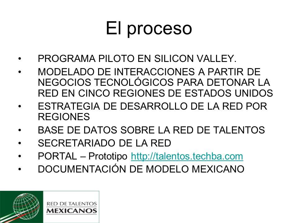 El proceso PROGRAMA PILOTO EN SILICON VALLEY.