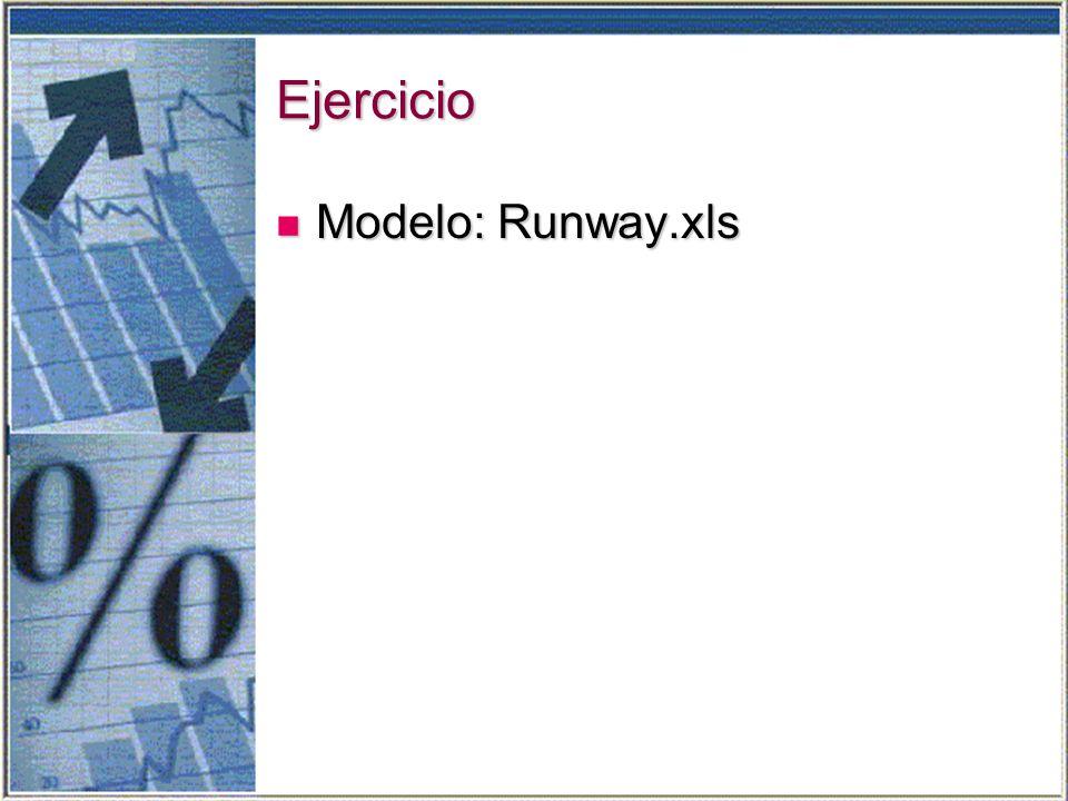 Ejercicio Modelo: Runway.xls Modelo: Runway.xls
