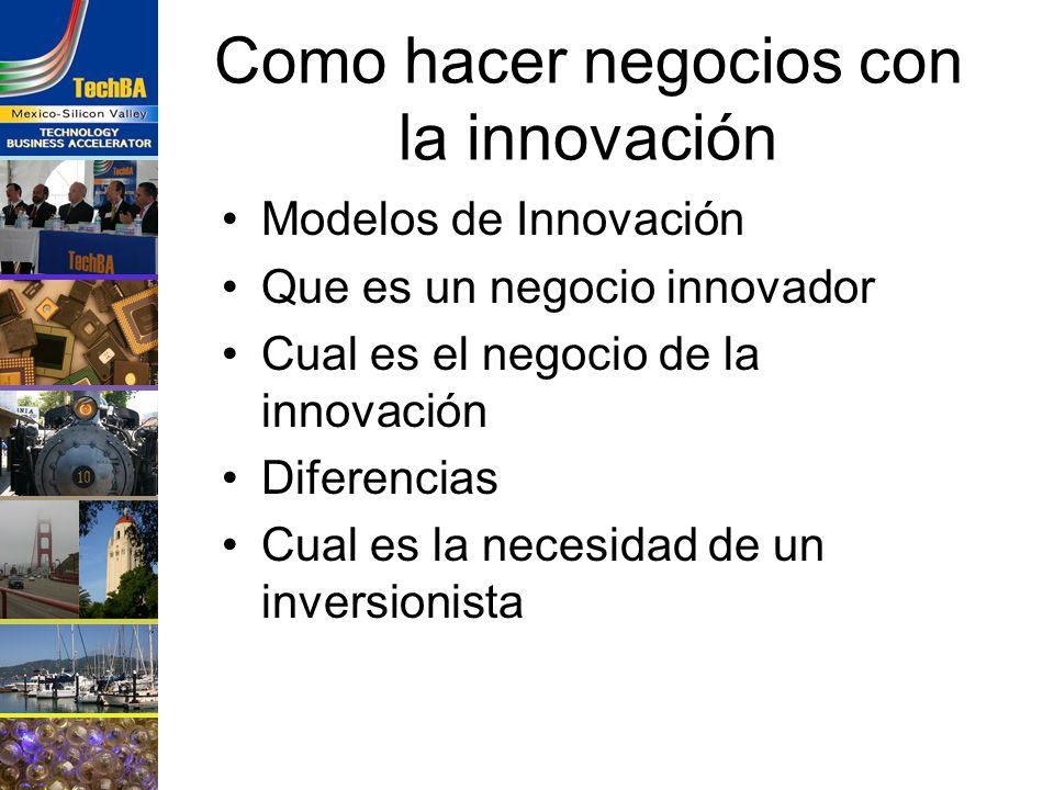 Como hacer negocios con la innovación Modelos de Innovación Que es un negocio innovador Cual es el negocio de la innovación Diferencias Cual es la nec