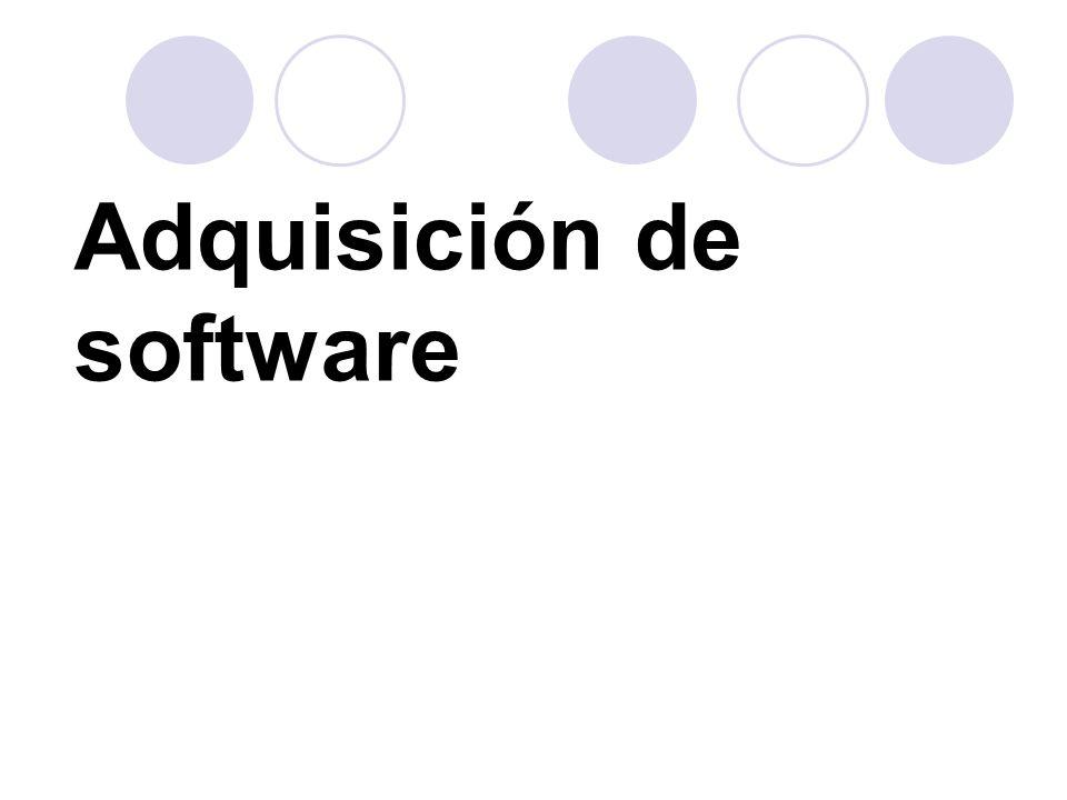 Consideraciones generales para la Adquisición de Software y Hardware.
