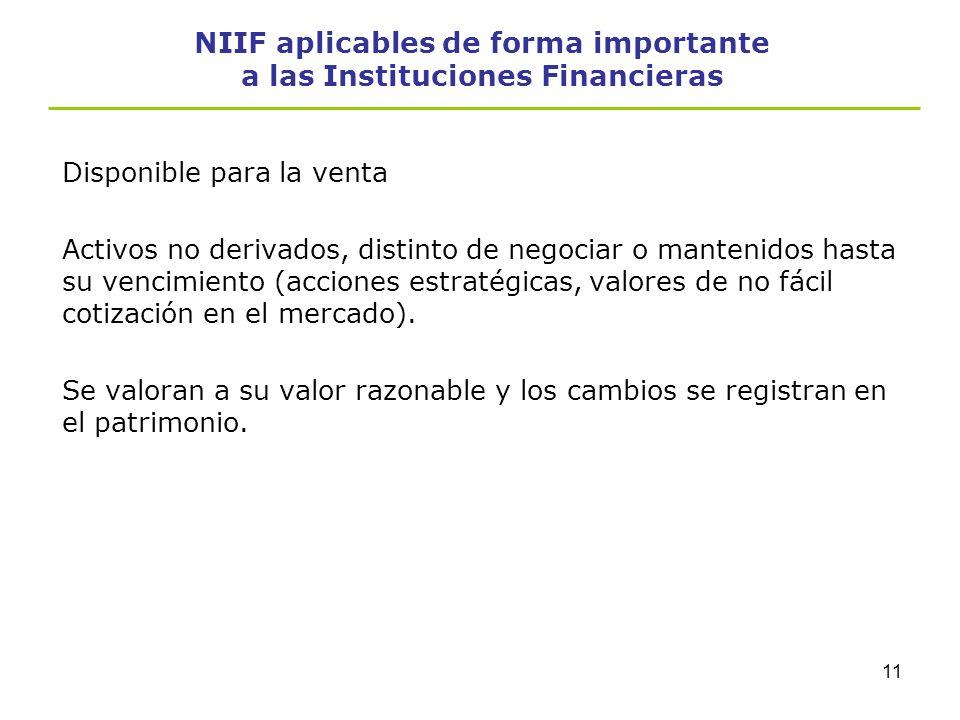 10 NIIF aplicables de forma importante a las Instituciones Financieras Préstamos y partidas por cobrar Son activos financieros no derivados con pagos