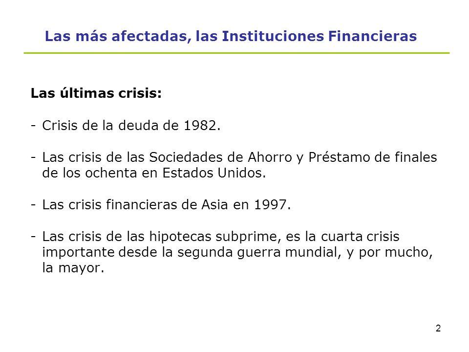 Contenido 1.Las más afectadas, las Instituciones Financieras. 2.NIIF aplicables de forma importante a las Instituciones Financieras. 3.Consecuencias d