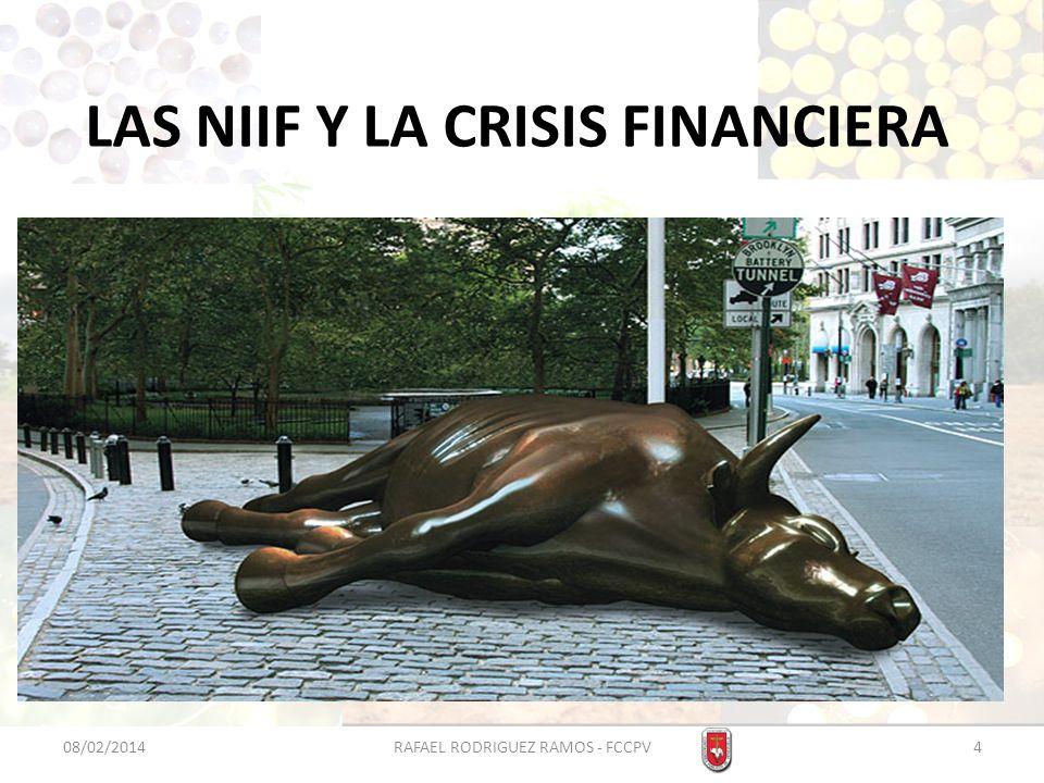 LAS NIIF Y LA CRISIS FINANCIERA Dos últimos grandes bancos de inversión estadounidenses, Goldman Sachs y Morgan Stanley, convertidos en entidades comerciales.