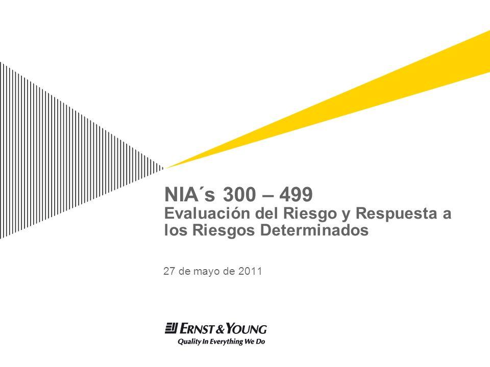 NIA´s 300 – 499 Evaluación del Riesgo y Respuesta a los Riesgos Determinados 27 de mayo de 2011