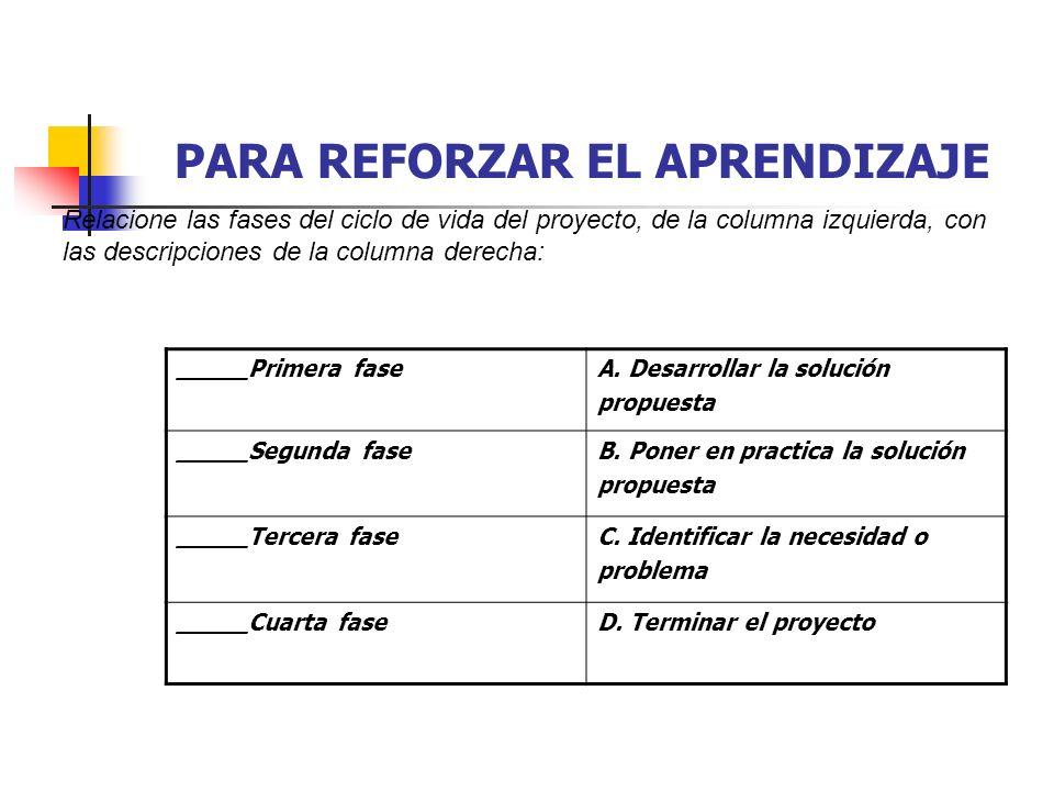 PROCESO DE LA ADMINISTRACIÓN DEL PROYECTO Dicho en forma breve, el proceso de administración del proyecto significa planear el trabajo y después trabajar el plan.