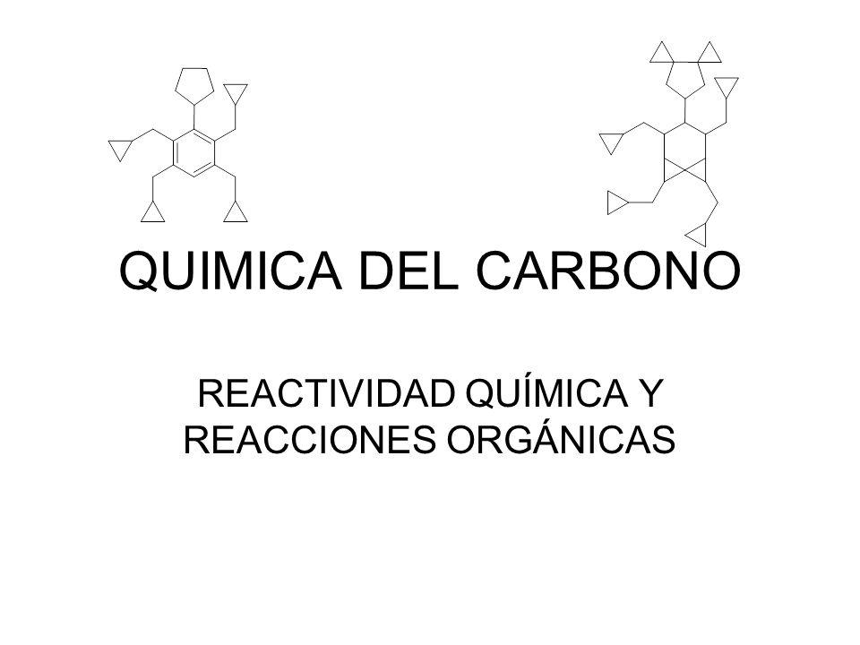 QUIMICA DEL CARBONO REACTIVIDAD QUÍMICA Y REACCIONES ORGÁNICAS