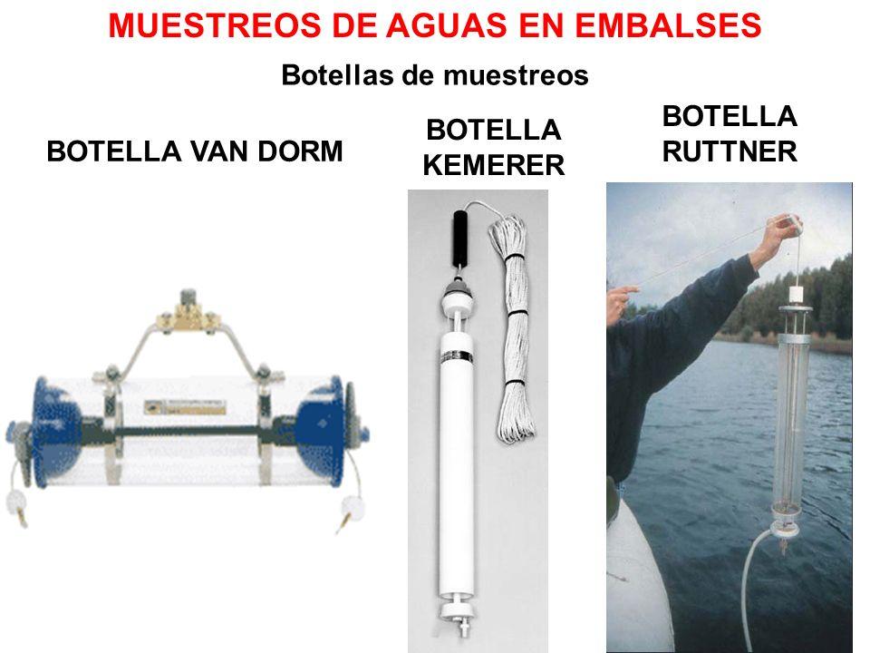BOTELLA VAN DORM MUESTREOS DE AGUAS EN EMBALSES Botellas de muestreos BOTELLA KEMERER BOTELLA RUTTNER