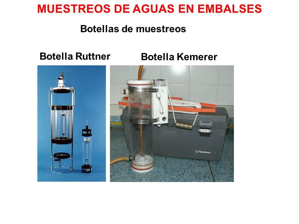 Botellas de muestreos Botella Ruttner Botella Kemerer MUESTREOS DE AGUAS EN EMBALSES