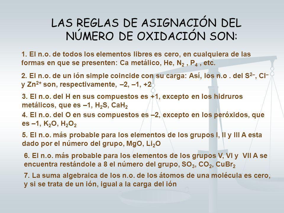 NÚMERO DE OXIDACIÓN Es el nº de electrones que un átomo puede captar o ceder (total o parcialmente) al formar un compuesto El nº de oxidación no tiene