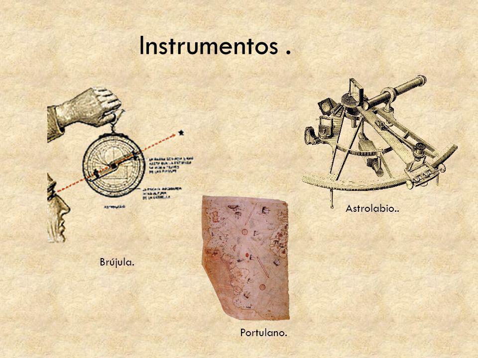 Instrumentos. Brújula. Portulano. Astrolabio..