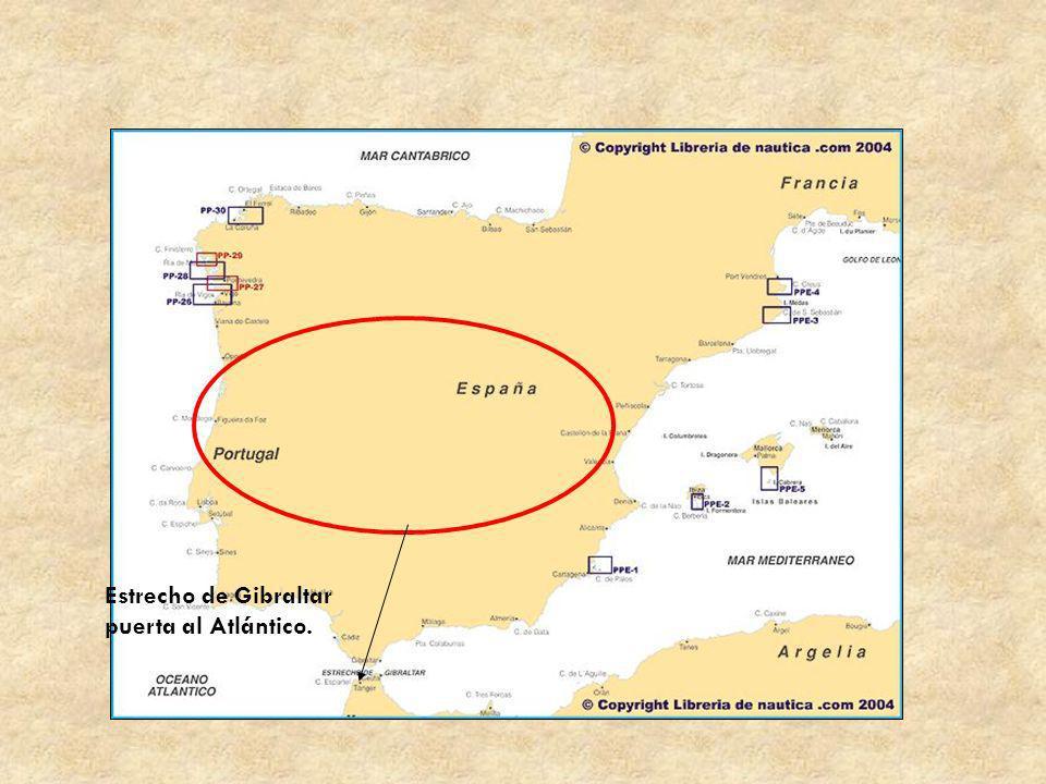 Estrecho de Gibraltar puerta al Atlántico.