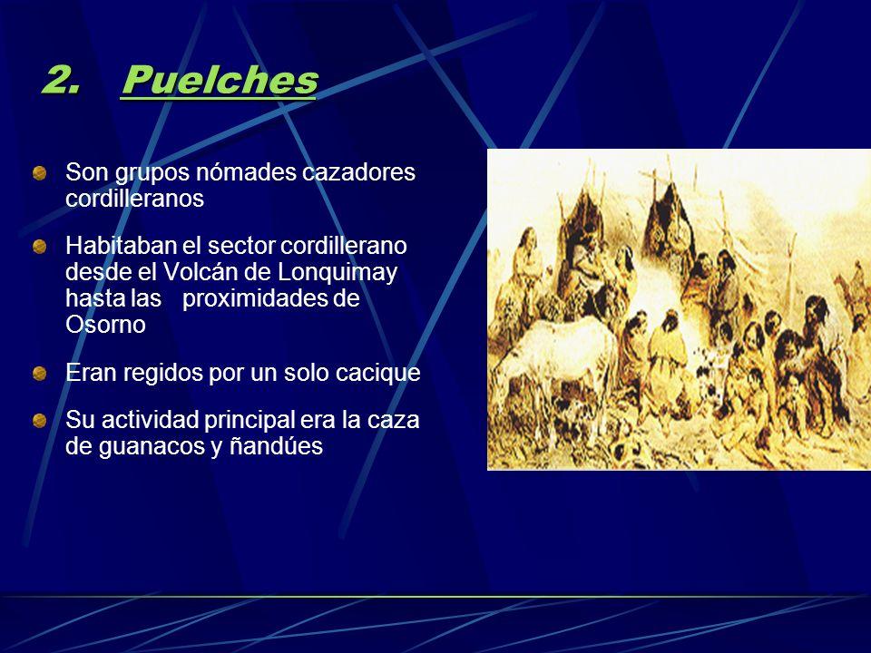 1. Cuncos Se localizaron inicialmente al Norte del Canal de Chacao La aparición de los Mapuches produjo su desplazamiento hacia el Sur Se ubicaban ent