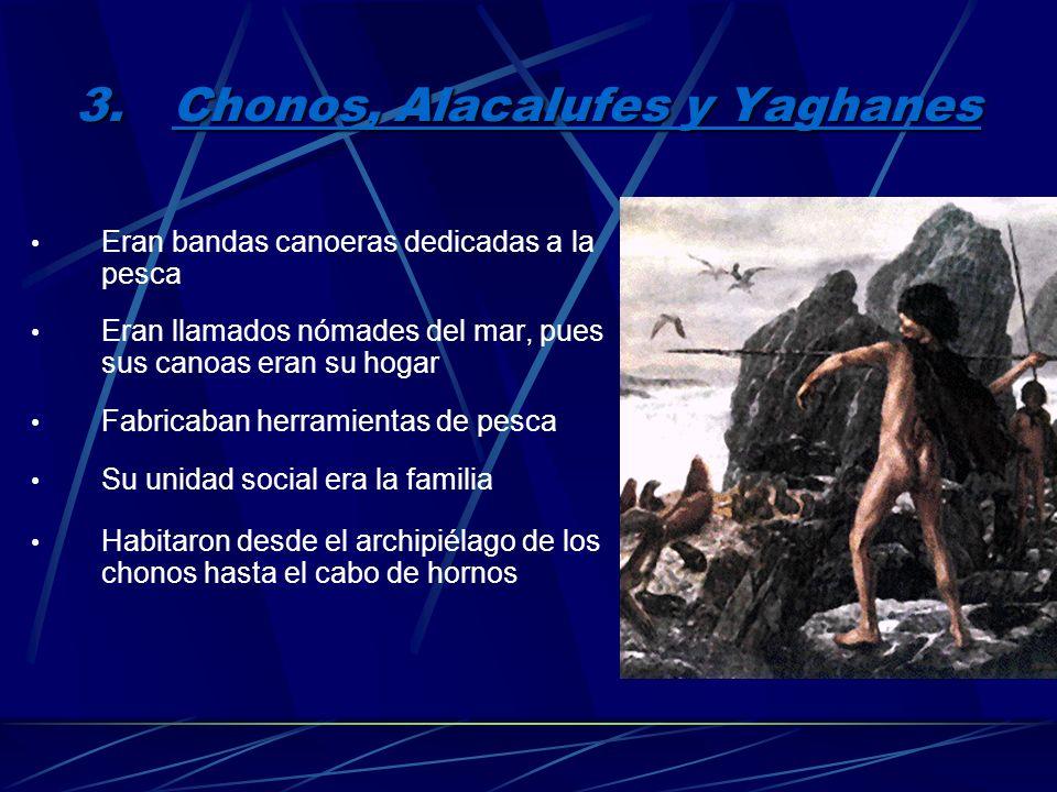 2.Tehuelches Eran bandas nómades cazadoras y recolectoras También llamados Patagones Habitaron la patagonia Su vestuario se compone de taparrabos, de