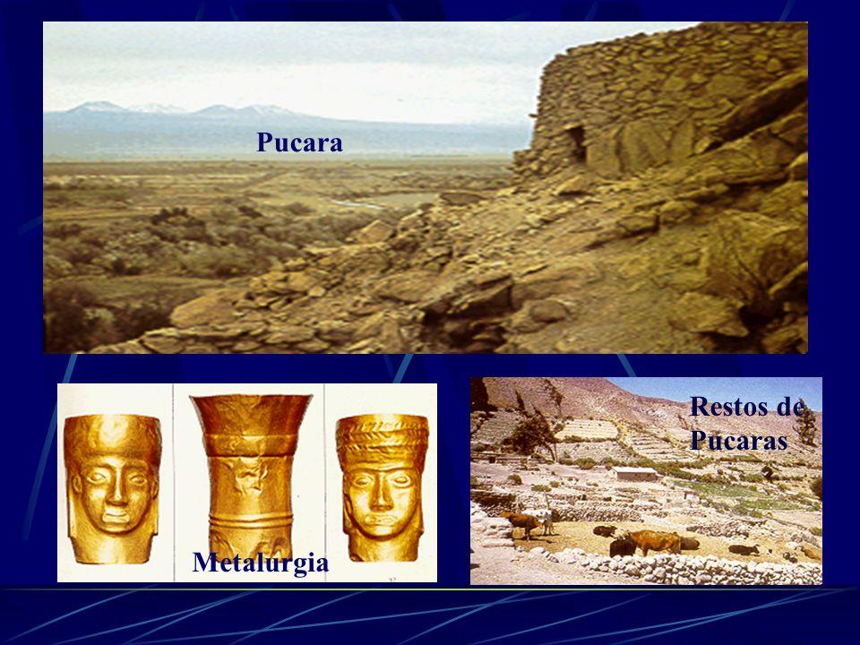 3.Atacameños Eran un pueblo sedentario ubicado en la hoya hidrográfica del Río Loa Su idioma era el Kunza Cultivaban la tierra mediante un sistema de