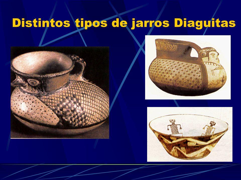 Distintos tipos de jarros Diaguitas