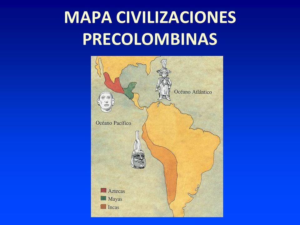 MAPA CIVILIZACIONES PRECOLOMBINAS