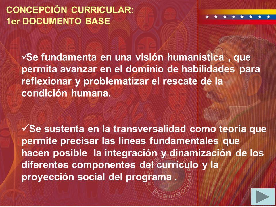 Se fundamenta en una visión humanística, que permita avanzar en el dominio de habilidades para reflexionar y problematizar el rescate de la condición