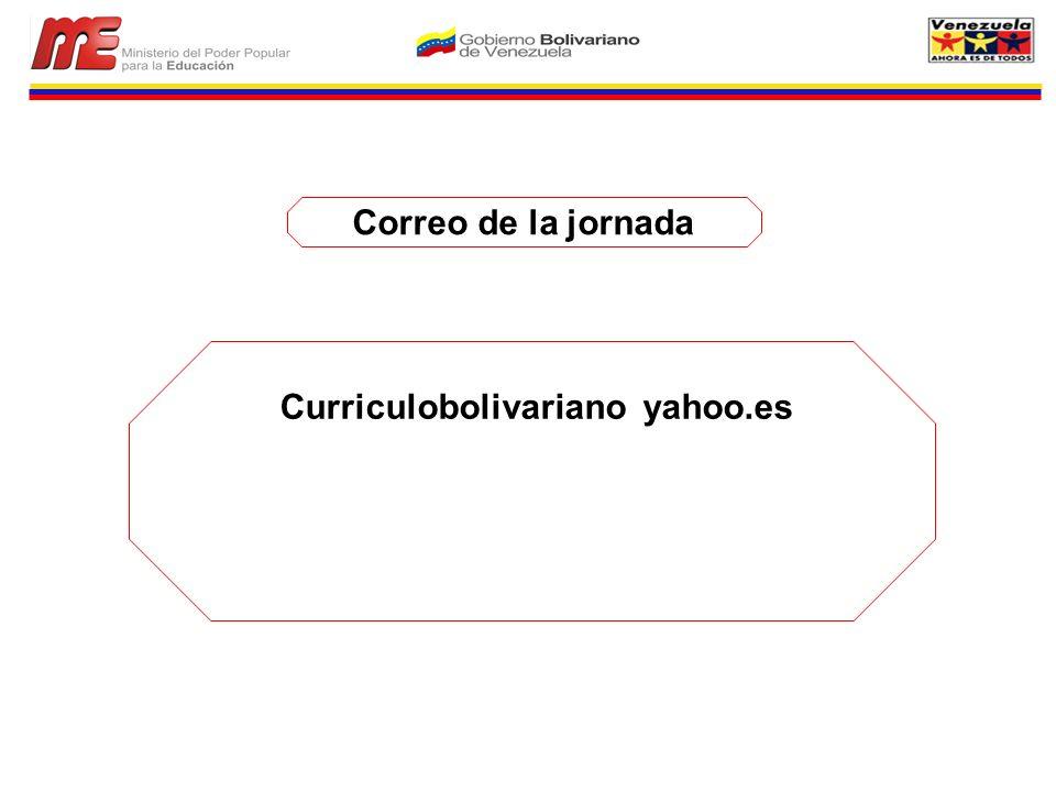 Correo de la jornada Curriculobolivariano yahoo.es