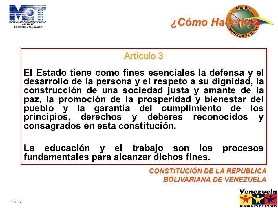 30.03.04 Robinson I y II Ribas Sucre Guaicaipuro Miranda Barrio Adentro Las Misiones como sistema de inclusión: Salud Educación Cultura Participación