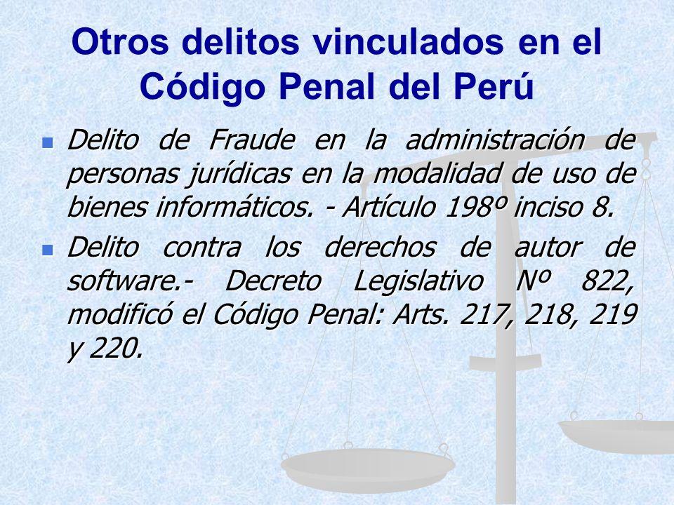 Otros delitos vinculados en el Código Penal del Perú Delitos contra la fe pública, que son aplicables a la falsificación y adulteración de microformas
