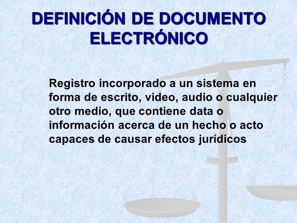 ) DERECHO SANCIONATORIO ( LEY ESPECIAL CONTRA LOS DELITOS INFORMÁTICOS) Adopción de la noción de Documento Electrónico dentro de la definición legal d