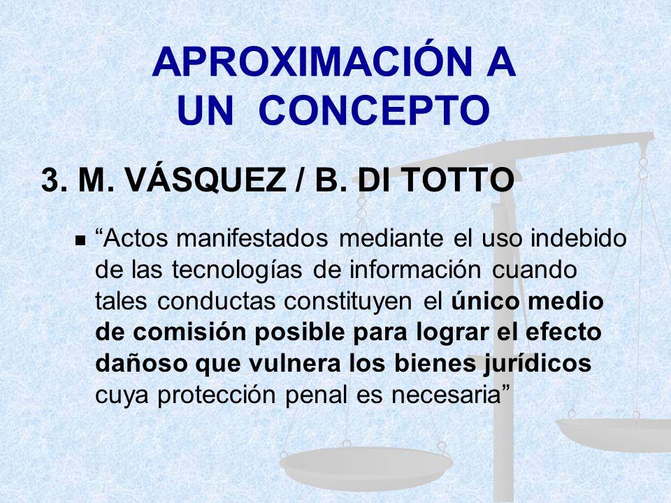 APROXIMACIÓN A UN CONCEPTO 3.M. VÁSQUEZ / B.