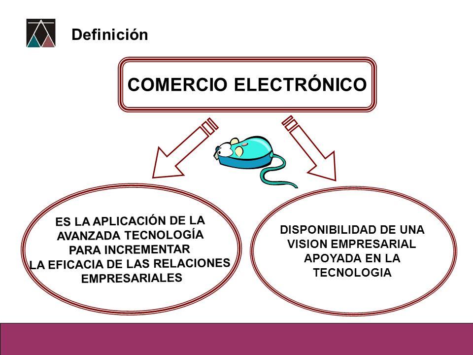 COMERCIO ELECTRÓNICO ES LA APLICACIÓN DE LA AVANZADA TECNOLOGÍA PARA INCREMENTAR LA EFICACIA DE LAS RELACIONES EMPRESARIALES DISPONIBILIDAD DE UNA VIS