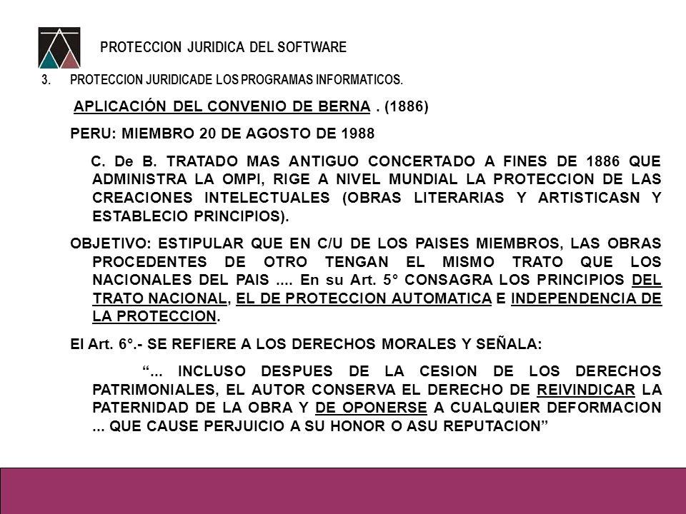 3.PROTECCION JURIDICADE LOS PROGRAMAS INFORMATICOS.
