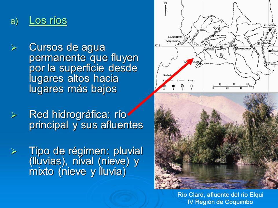 En el recorrido o curso de un río que se desplaza de cordillera a mar se pueden distinguir tres tramos: CURSO ALTO O SUPERIOR: Donde nace el río.