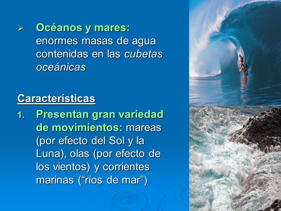 Océanos y mares: enormes masas de agua contenidas en las cubetas oceánicas Océanos y mares: enormes masas de agua contenidas en las cubetas oceánicasC