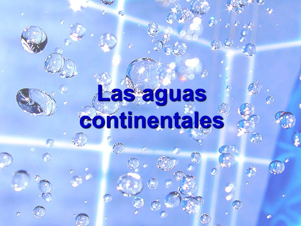 Ríos, lagos, glaciares, aguas subterráneas.