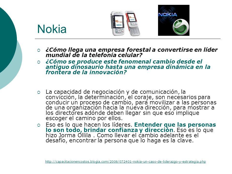 Nokia ¿Cómo llega una empresa forestal a convertirse en líder mundial de la telefonía celular? ¿Cómo se produce este fenomenal cambio desde el antiguo