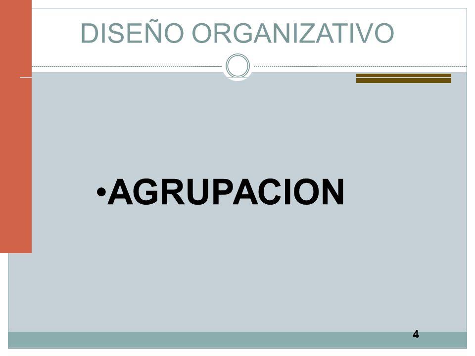 4 DISEÑO ORGANIZATIVO AGRUPACION