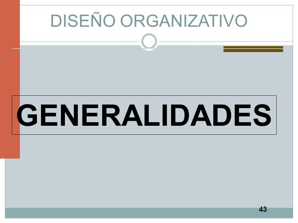 43 DISEÑO ORGANIZATIVO GENERALIDADES