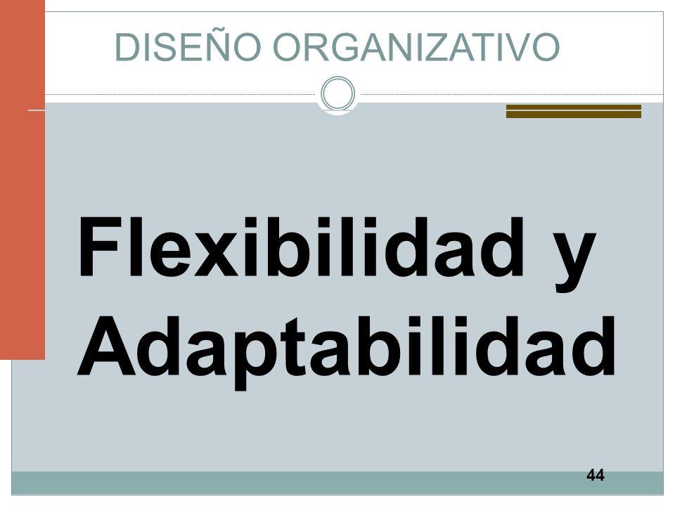 44 DISEÑO ORGANIZATIVO Flexibilidad y Adaptabilidad