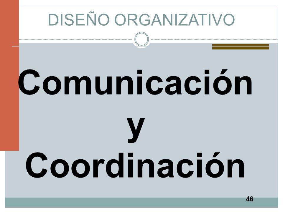 46 DISEÑO ORGANIZATIVO Comunicación y Coordinación