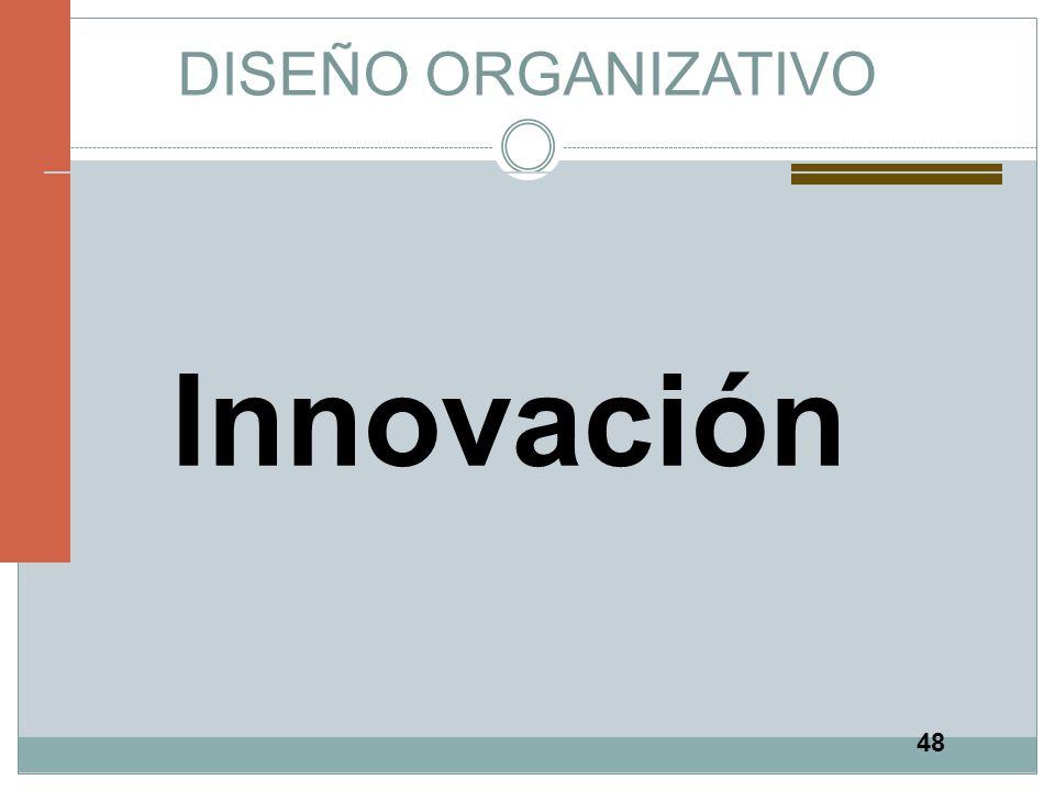 48 DISEÑO ORGANIZATIVO Innovación