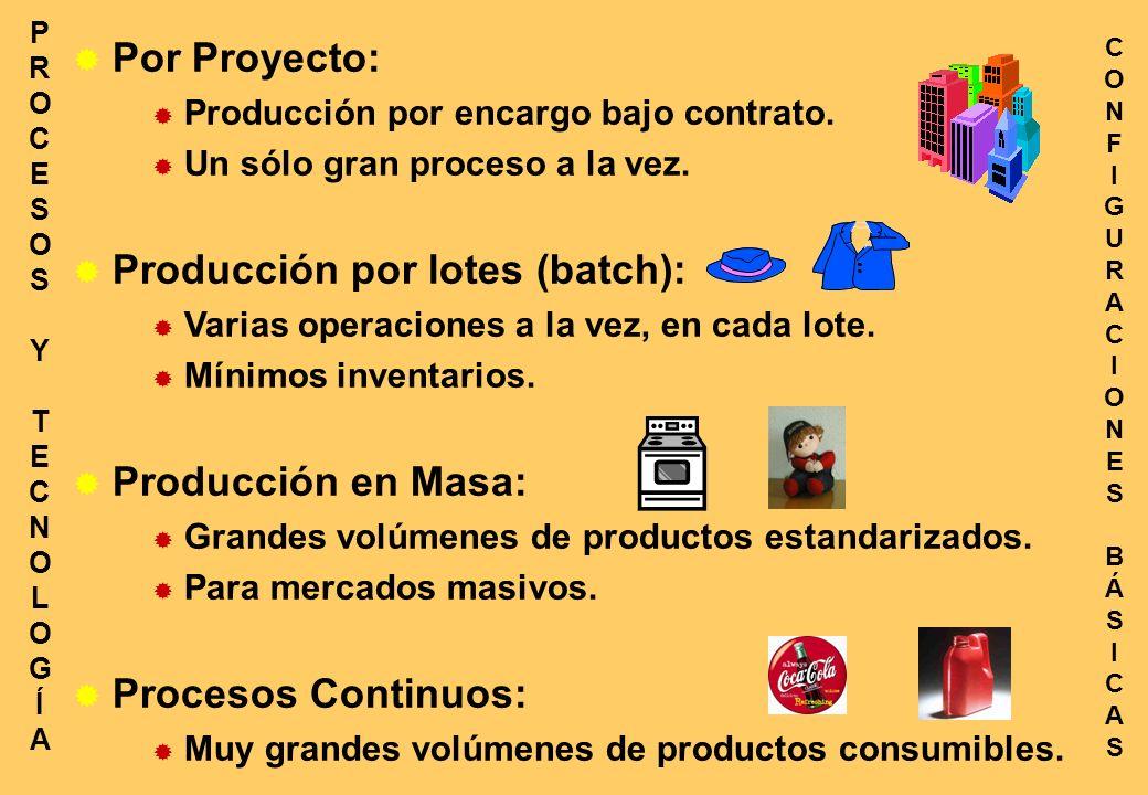 Por Proyecto: Producción por encargo bajo contrato.
