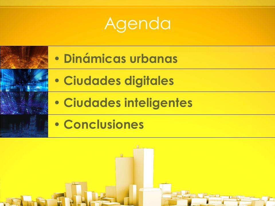 Agenda Dinámicas urbanas Ciudades digitales Ciudades inteligentes Conclusiones