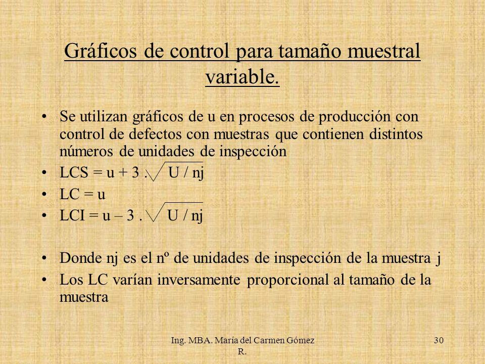 Ing.MBA. María del Carmen Gómez R.