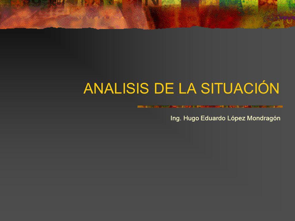 ANALISIS DE LA SITUACIÓN Ing. Hugo Eduardo López Mondragón